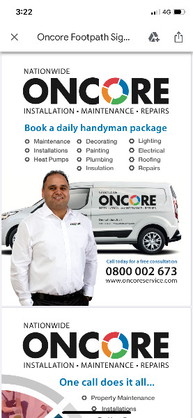 ONCORE ( Repair, installation & maintenance)Residential & Commercial properties