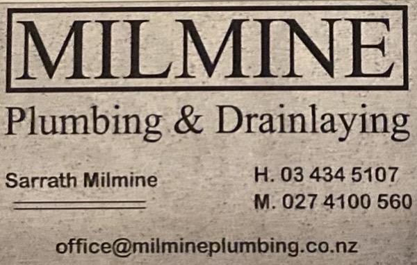 Milmine Plumbing & Drainlaying Ltd