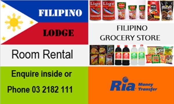 Filipino Lodge & Grocery Store.